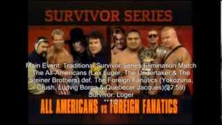 WWF Survivor Series 1993 Review