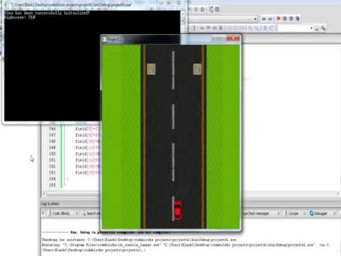 C++ OpenGL SDL simple car video game in 2D