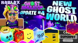 GHOSTLY ISLANDS ! OP PET CODE ! NEW WORLD ! SHELLY QUESTS +1 PET ! 👻 UPDATE 4 Ghost Simulator Roblox