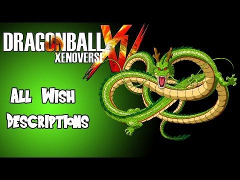Dragon Ball Xenoverse Complete Wish List