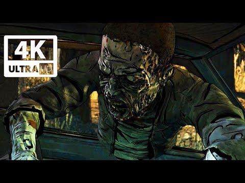 THE WALKING DEAD Season 4 All Zombie Kills (Episode 1 'Done Running') Telltale Series 4k 60FPS