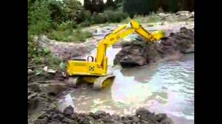 R/C Excavator Dam Construction - R/C Construction Equipment