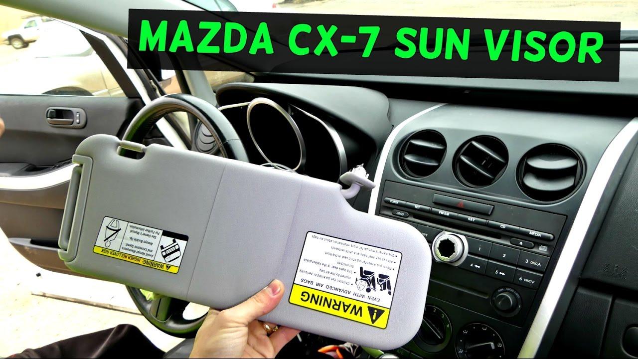 MAZDA CX-7 SUN VISOR REMOVAL REPLACEMENT CX7 - YouTube 54f9732ae93