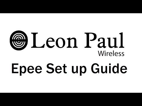 Leon Paul - Wireless Epee : Set up Guide