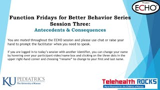 FunctionFriday Session3 Feb14 NoCase - Antecedents & Consequences