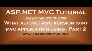 What aspnet mvc version is my mvc application using - Part 2