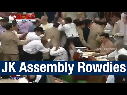 Fight Scene in Jammu and Kashmir Assembly - Teenmaar News (27-03-2015)