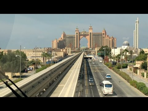 Beautiful Journey to Atlantis Hotel at Palm Jumeirah by Dubai Monorail
