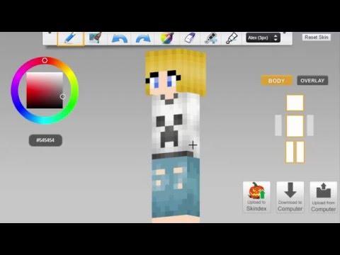 Tomboy Girl Minecraft Skin Speed Paint Youtube