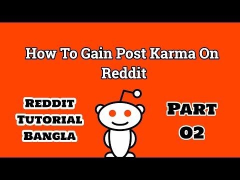 Reddit Tutorial Bangla: How To Gain Post Karma On Reddit (2018)
