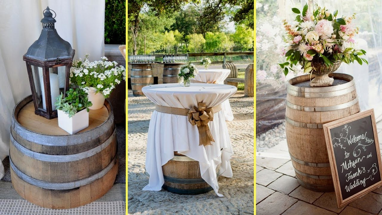 ✴DIY Ideas How to Re purpose Wine Barrels | Rustic Farmhouse style ...
