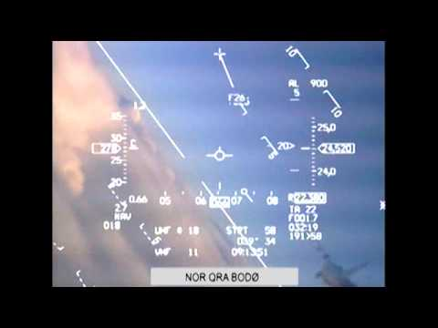 Russian MiG close encounter with Norwegian F-16 fighter jet captured on camera