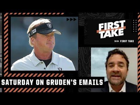 Jon Gruden's emails were 'shocking!' - Jeff Saturday   First Take