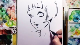 Brush Pen Speed Drawing