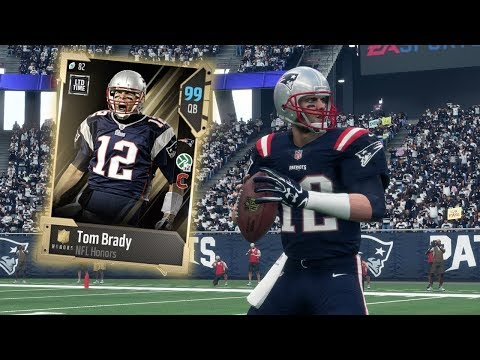 99 OVERALL HONORS TOM BRADY THROWS 6 TOUCHDOWNS!! MADDEN 18 ULTIMATE TEAM