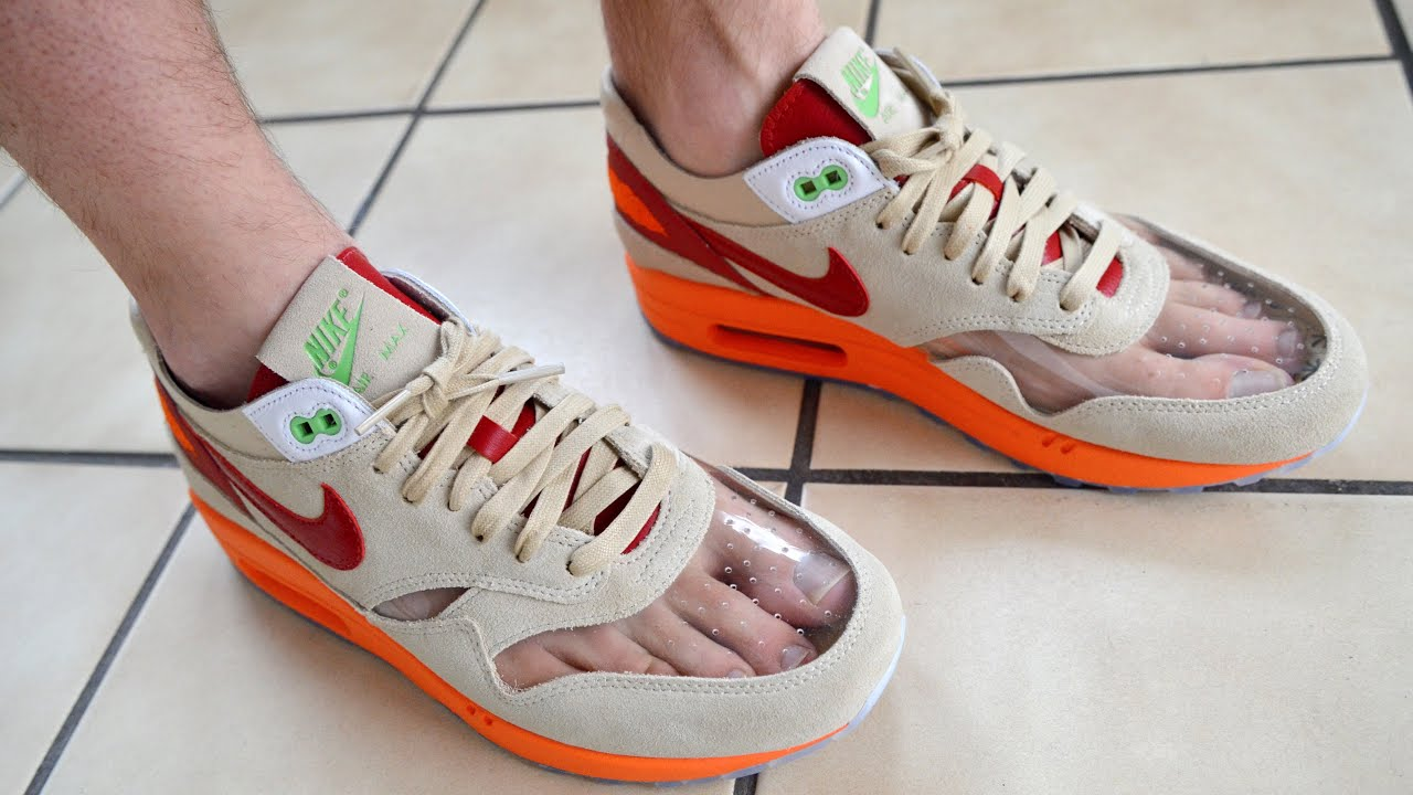 Nike CLOT Air Max 1 Kiss of Death With vs Without Socks