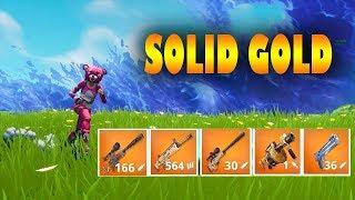 Fortnite SOLID GOLD V2 GAMEPLAY
