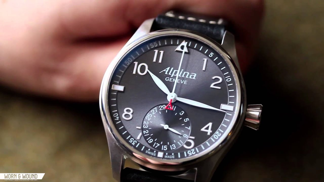 worn wound alpina startimer pilot manufacture review youtube. Black Bedroom Furniture Sets. Home Design Ideas