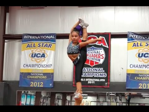 Darby Leetch (7 Years old) performs for Cheer Extreme