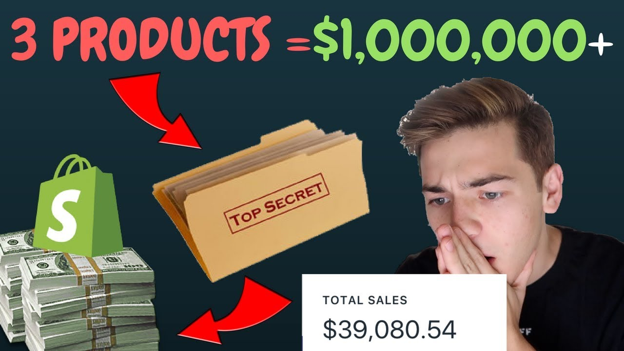 REVEALING 3 PRODUCTS THAT MADE OVER $1MIL ON SHOPIFY