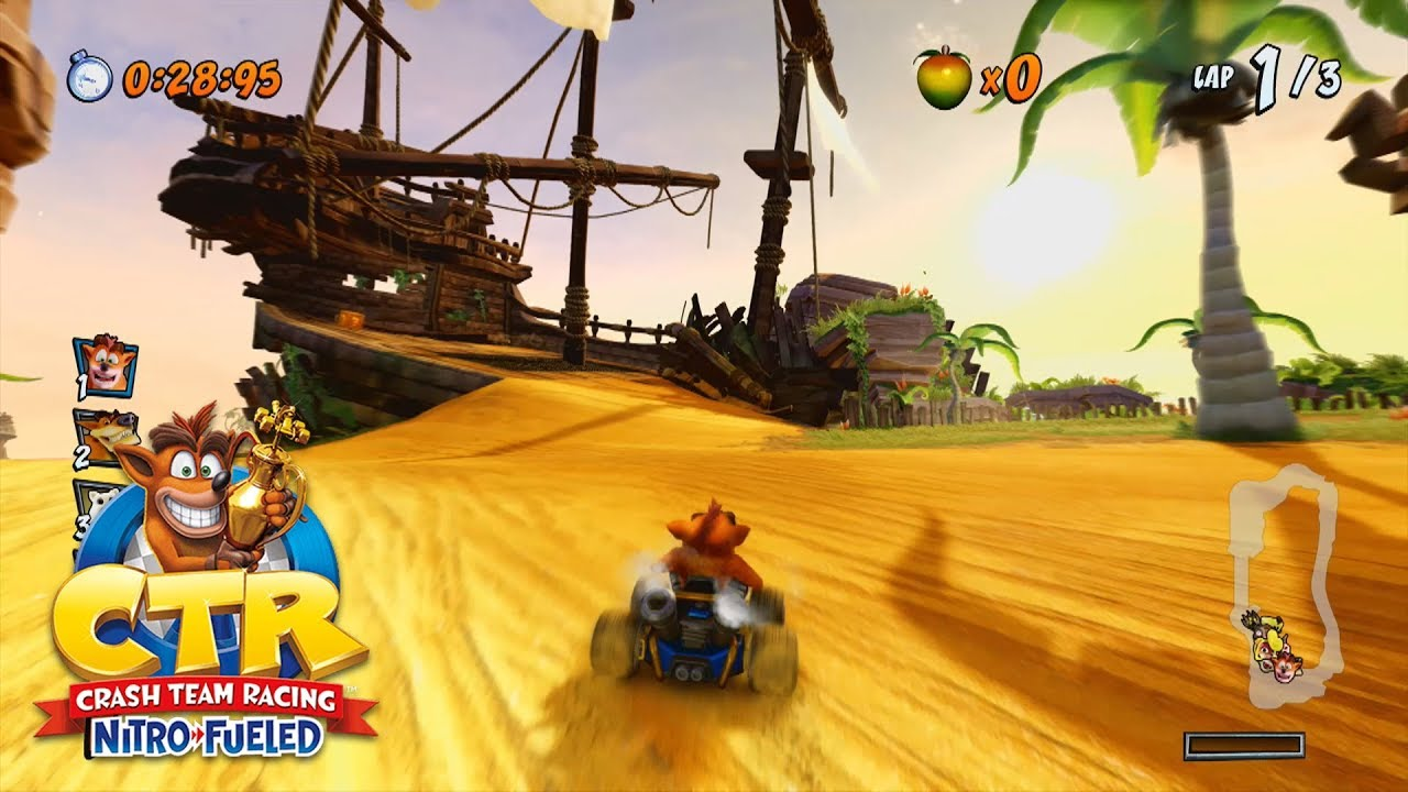 Crash Team Racing Nitro-Fueled   Crash Cove, Dingo Canyon & Polar Pass Gameplay - CrystalFissure