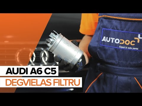 Kā nomainīt AUDI A6 C5 Degvielas filtrs [PAMĀCĪBA]