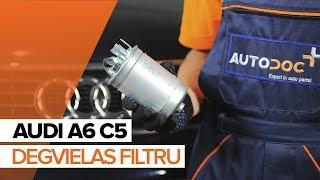 Audi A6 C5 Avant apkope - video pamācības