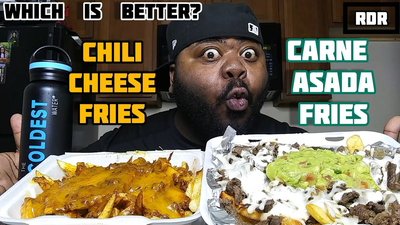 CHILI CHEESE FRIES VS CARNE ASADA FRIES !!!🍟 Which is Better?