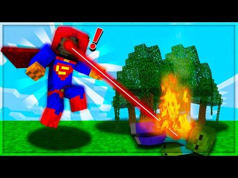 הפכתי לסופרמן במיינקראפט!   מיינקראפט הישרדות עם מודים!