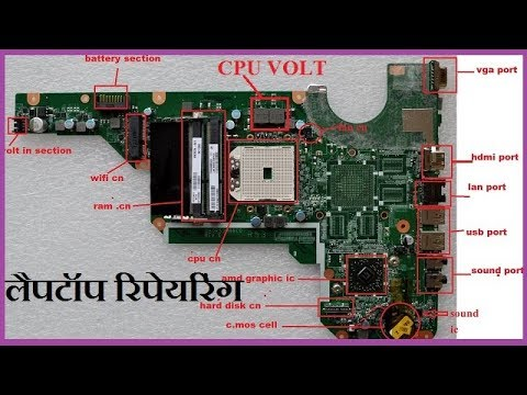 how to know laptop mother board section /ic/component and ... hp motherboard diagram #5