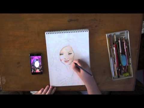 How to draw Mal (Disney Descendants)(Part 1)