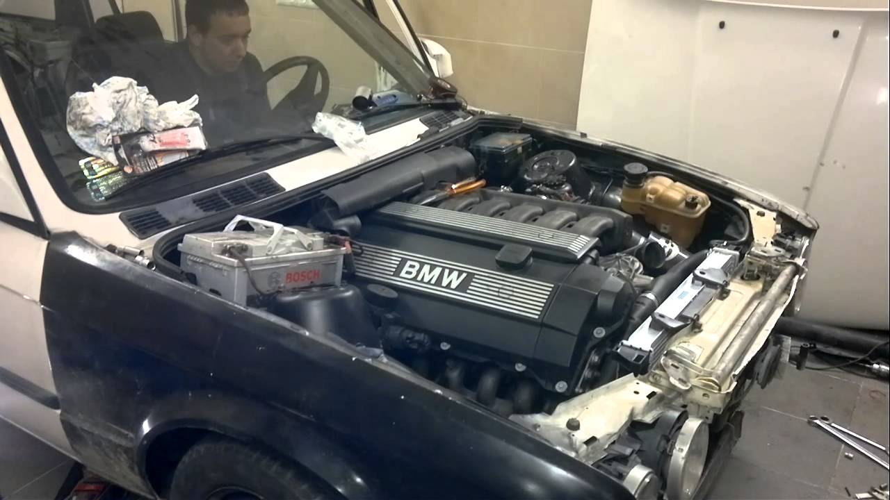 Bmw E30 M52b28 First Start After Swap Youtube