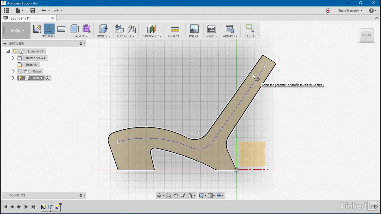 Developing a 3D component | Autodesk Fusion 360: Designing for Wood from  LinkedIn Learning