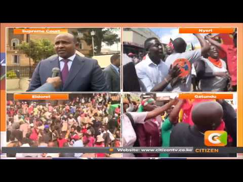 Celebrations rock Jubilee strongholds as Kenyatta's Victory upheld
