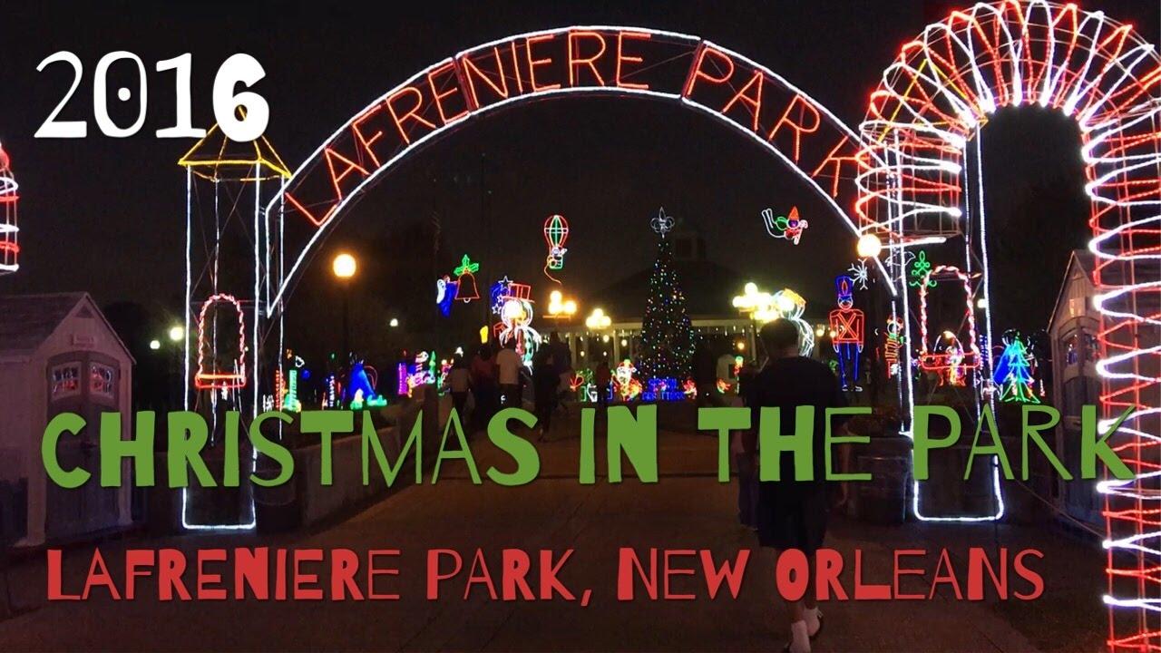 christmas in the park lafreniere park new orleans xmas lights walking car tour 12242016 - Lafreniere Park Christmas Lights