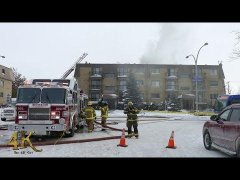 Laval: Incendie Résidentiel De La Concorde / Apartment Fire Re-ignites 1-7-2018