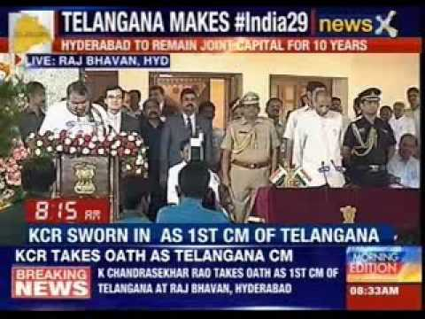 KCR takes oath as Telangana Chief Minister