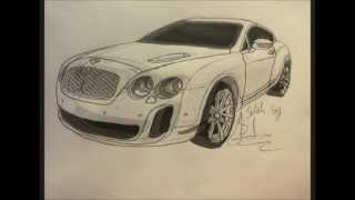 "The best drawing of the ""Bentley Gontinental"""
