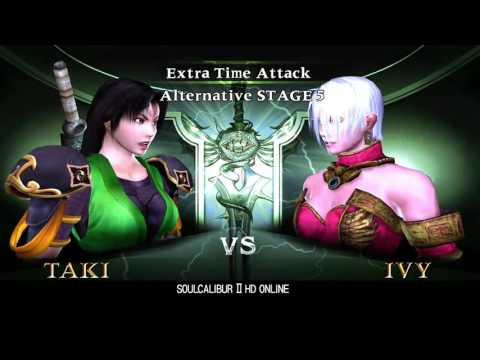 Soul Calibur 2 HD Online - Alternative Extra Time Attack with Taki