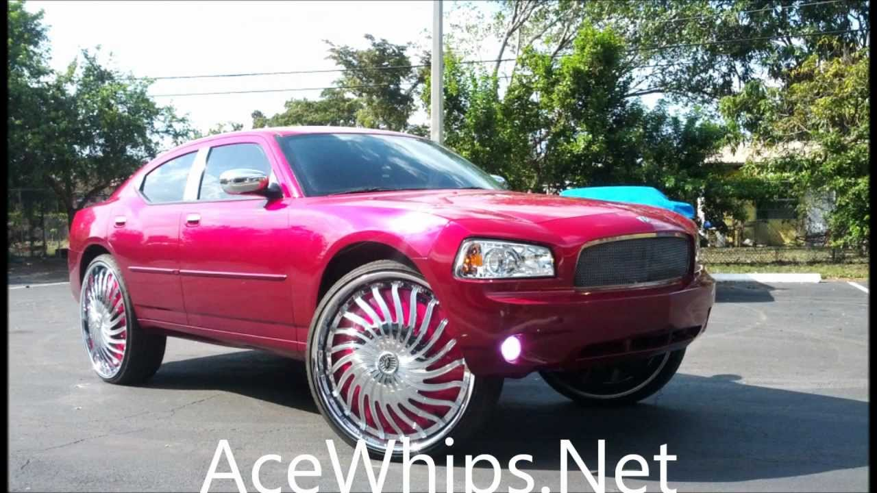 Acewhips Net Candy Magenta Pink Dodge Charger R T On 30