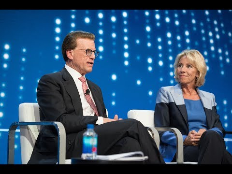 Conversation w/ Betsy DeVos, Secretary, U.S. Dept. of Education / U.S. Education Policy Discussion