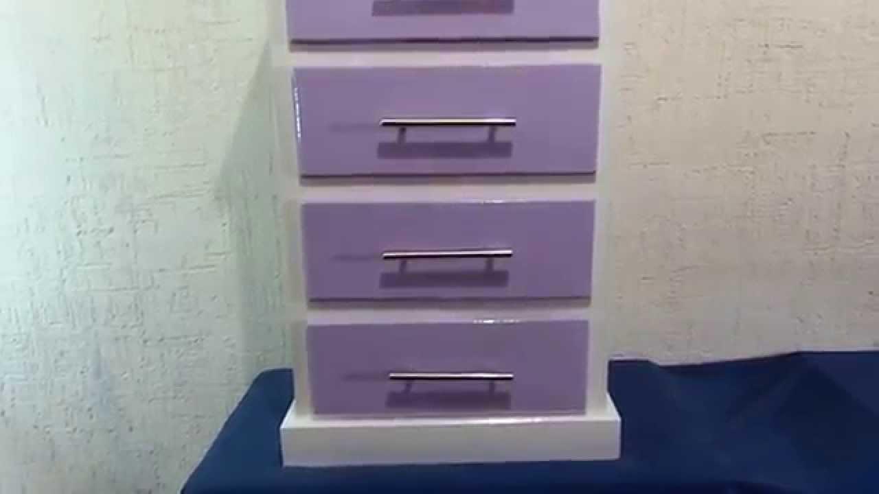 Muebles para nia Cajonera de 4 Gavetas color Morado