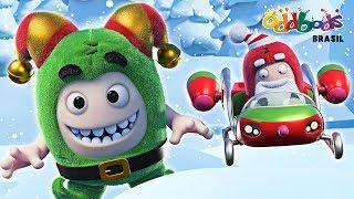 Especial de Natal do Oddbods | AMEAÇA FESTIVA | NATAL Desenhos Animados Para Crianças