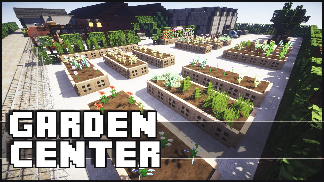 minecraft epic garden center youtube