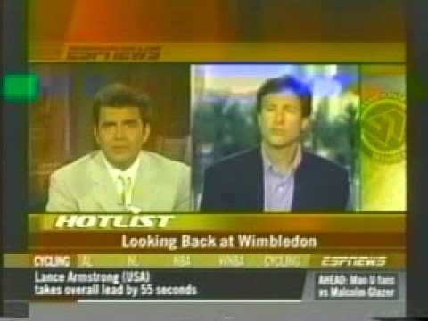 Steve Bellamy of Tennis Channel on ESPN discussing wimbledon