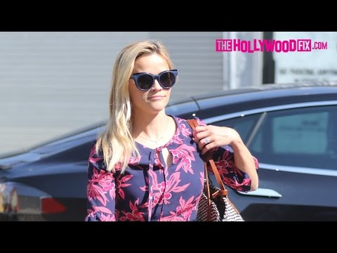 Reese Witherspoon & Jim Toth Take Their Two Sons To Sunday Church Service 8.28.16