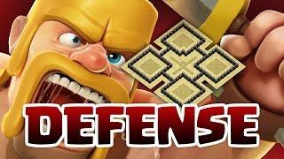 clash of clans hdv 6   village defense 1
