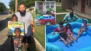 Kind-Hearted Man Donates Pools After Seeing Photo of Kids Swimming In Truck Bed
