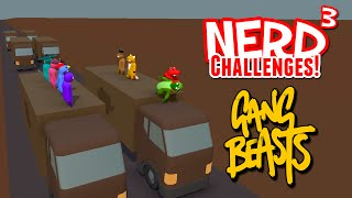 Nerd³ Challenges! How to Save a Life - Gang Beasts
