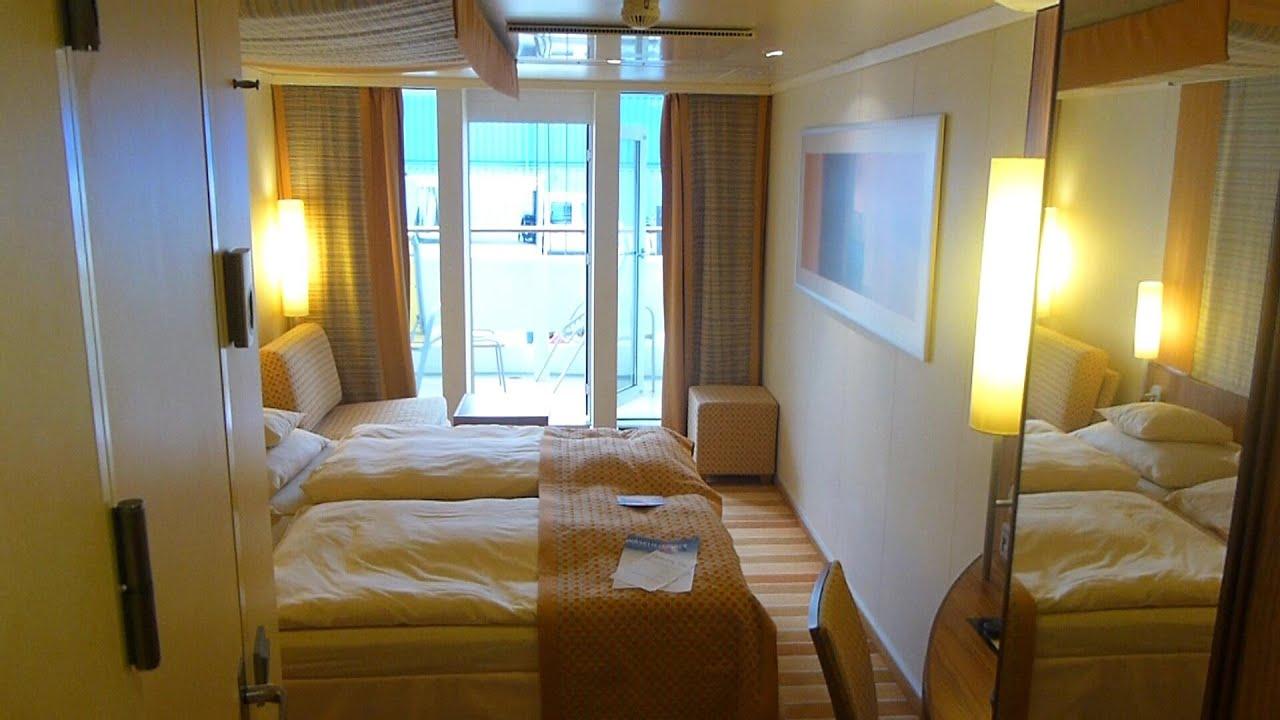 Aidaluna balkonkabine 5235 cabin balcony stateroom youtube for Balcony translate